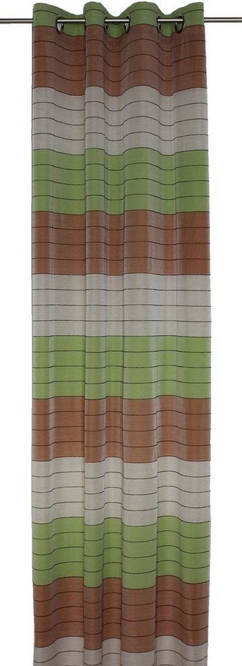 Vorhang, Wirth, »Barletta«, mit Ösen (1 Stück) in beige-grün-terra