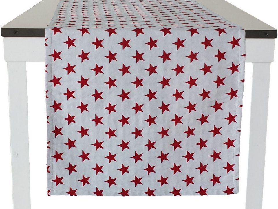 Tischläufer 1-er Pack, Tom Tailor, »Star« in weiß