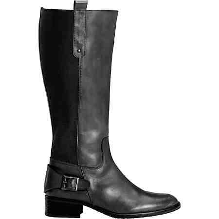 sheego XL/XXL-Weitschaft-Stiefel aus Leder