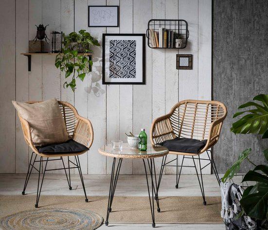 INOSIGN Sitzgruppe »Adiba«, für Indoor, Terrasse, Wintergarten oder Garten geeignet