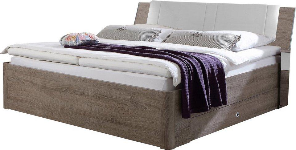 Wimex Bett in struktureichefarben dunkel/weiß