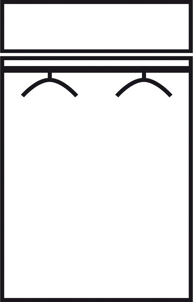Kleiderschrank in weiß/anthrazit