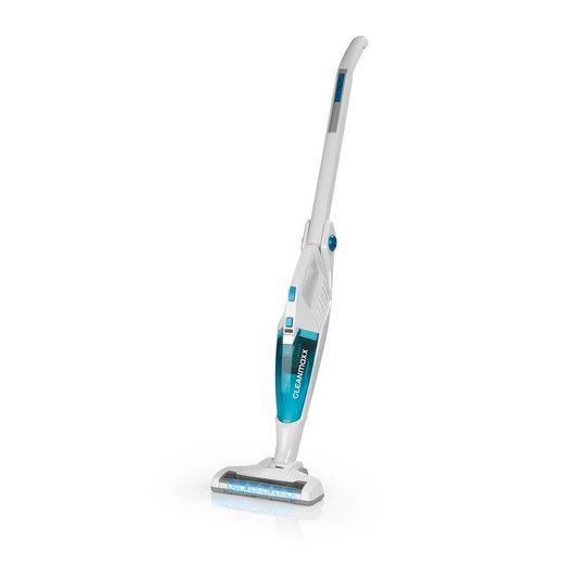 CLEANmaxx Akku-Hand-und Stielstaubsauger, 100 Watt, Boden & Handsauger weiß/blau