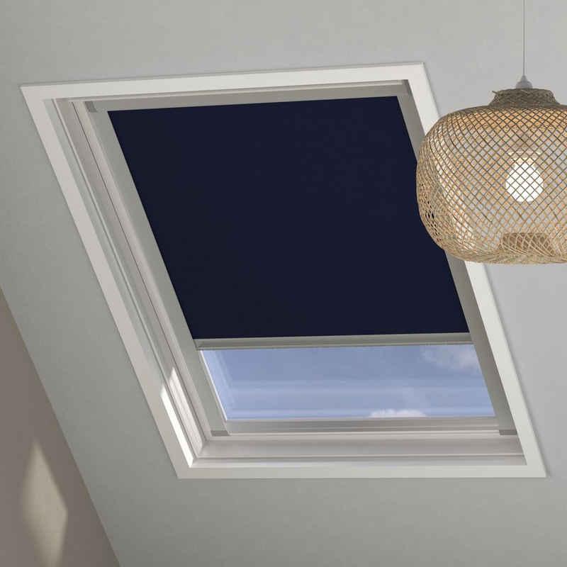 Dachfensterrollo MK08 »Sky-Rollo«, my home, verdunkelnd, in Führungsschienen, Dachfenster-Rollo mit Kassette und Seitenprofilen