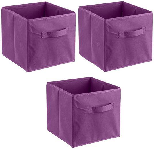 ADOB Aufbewahrungsbox »Faltboxen« (Set, 3 Stück), Inklusive Haltegriff