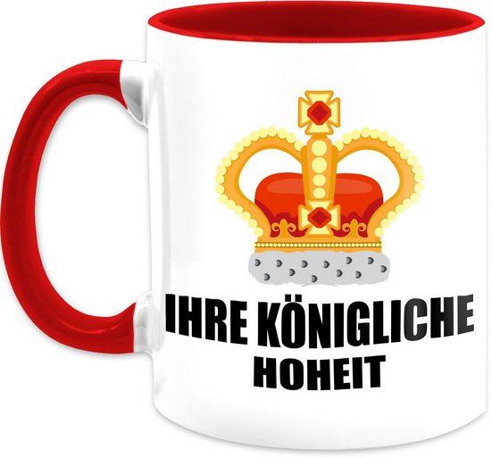 Shirtracer Tasse »Ihre königliche Hoheit - Kaffeetasse mit Spruch - Tasse zweifarbig«, Keramik, Statement Teetasse