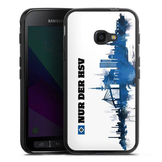 DeinDesign Handyhülle »Silhouette - Nur der HSV« Samsung Galaxy Xcover 4, Hülle Offizielles Lizenzprodukt HSV Hamburger SV