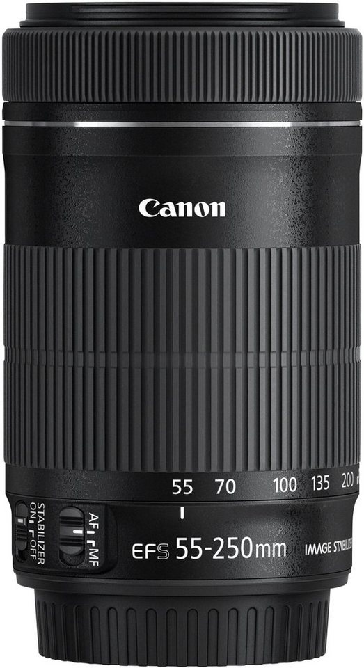 Canon EF-S 55-250mm 1:4-5,6 IS STM Telezoom Objektiv in schwarz
