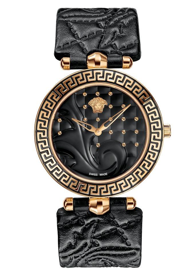 Versace Schweizer Uhr »VANITAS, VK7030013« mit 1 Wechselband (Set, 2 tlg.) in schwarz