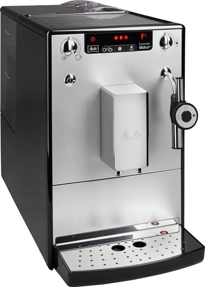 Melitta Kaffeevollautomat »CAFFEO® Solo® & Perfect Milk E 957-103« in silberfarben