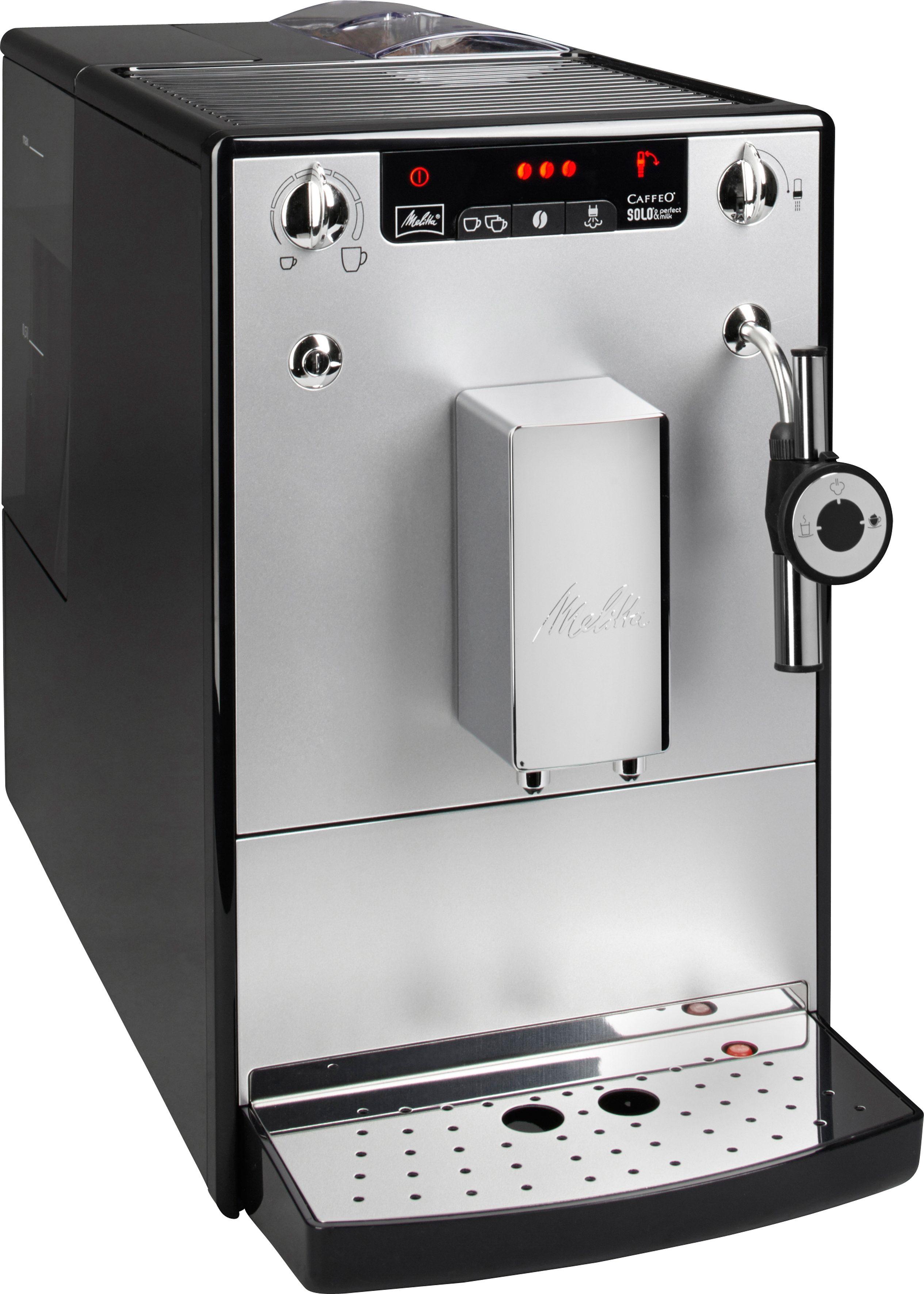 Melitta Kaffeevollautomat CAFFEO® Solo® & Perfect Milk E957-103, Kegelmahlwerk, nur 20 cm breit