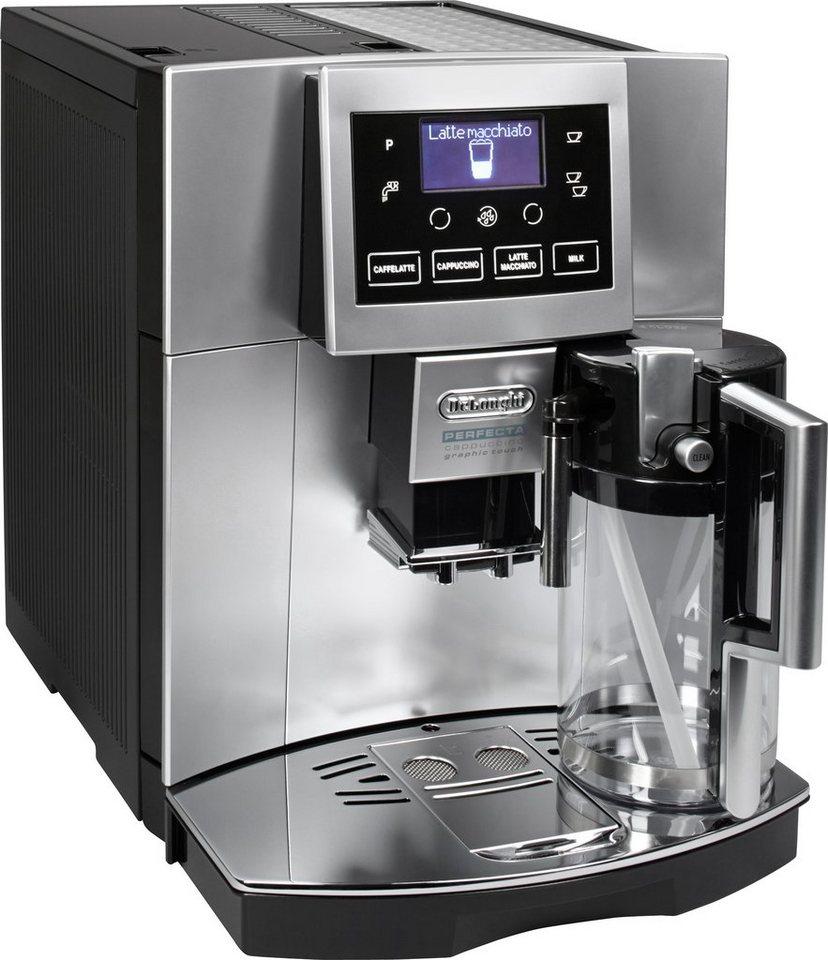 Kaffeemaschine Oder Kaffeevollautomat = delonghi kaffeevollautomat »perfecta esam 5600«, silber