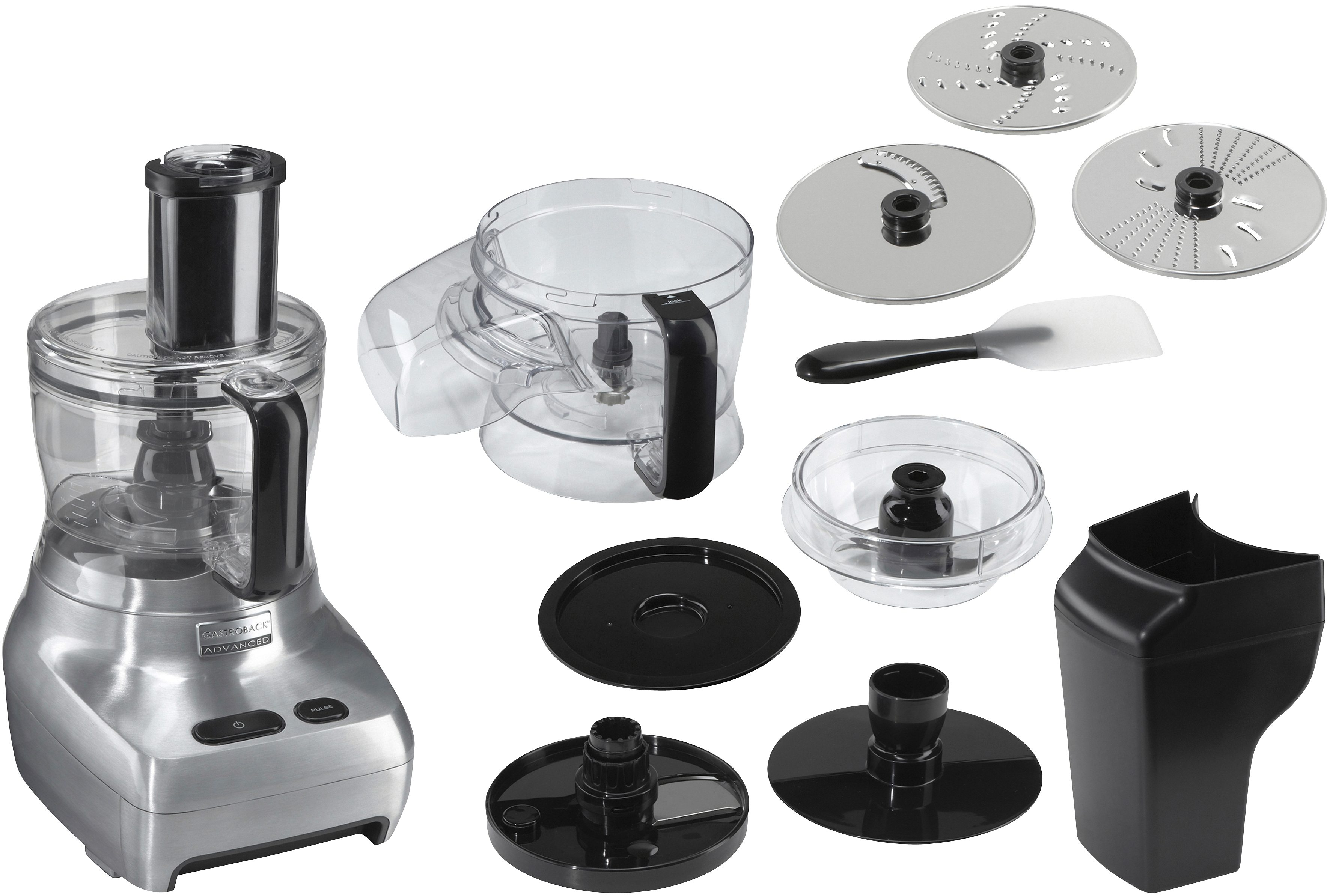 Gastroback Kompakt-Küchenmaschine Design Food Processor Advanced 40965, 1100 W, 2 l Schüssel