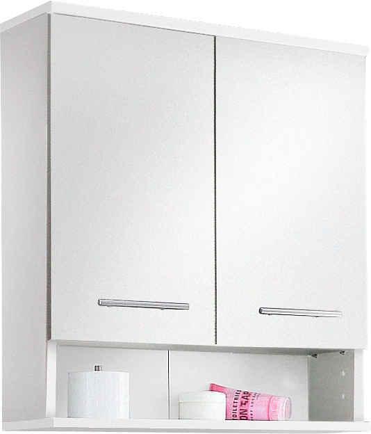 Schildmeyer Hängeschrank »Rhodos« Breite 60 cm, verstellbarer Einlegeboden, Metallgriffe, 1 offenes Fach & 2 Türen