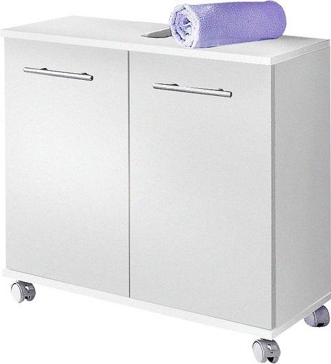 Schildmeyer Waschbeckenunterschrank »Rhodos« Breite 60 cm, verstellbarer Einlegeboden, Metallgriffe, 2 Türen