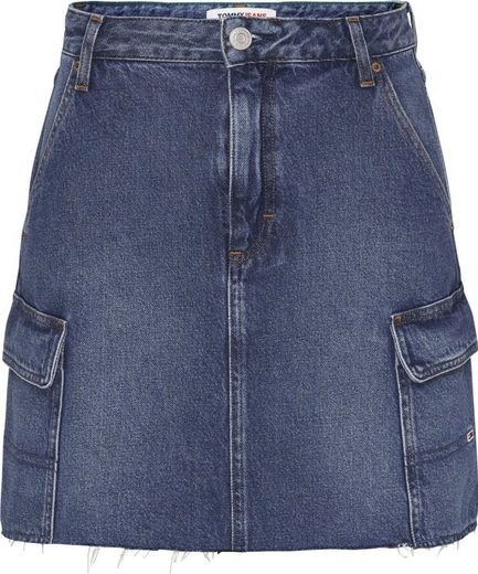 Tommy Jeans Jeansrock »CARGO SKIRT AE736 SMBR« im Cargo Stil mit Tommy Jeans Logo-Badge