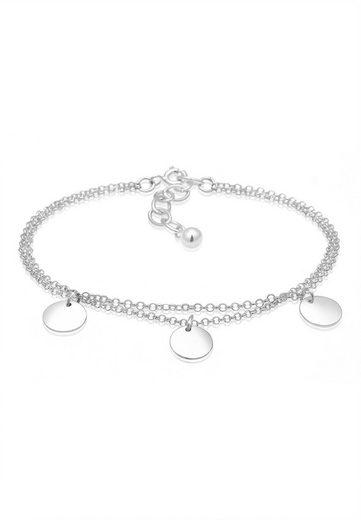 Elli Armband »2-reihig mit Plättchen 925 Silber«