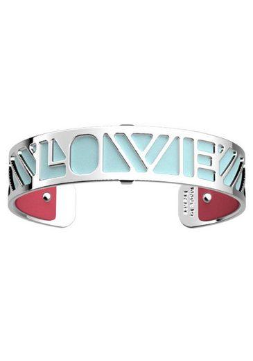 Les Georgettes Armband Set »LOVE, HELLBLAU-GRNATROT, LOVS14-DP« (Set, 2-tlg), mit Ledereinsatz