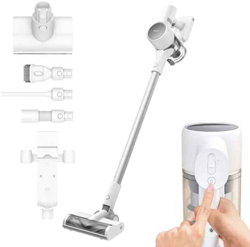 Dreame Akku-Bodenstaubsauger T10, 400,00 Watt, Dreame T10 handheld cordless vacuum cleaner, 120aw 20kPa strong suction, 60min battery running, 99.97% filtration efficiency, all-in-one dust collector bottom aspirator