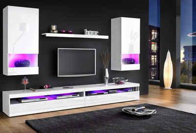 Wohnwand weiß hochglanz modern  Moderne Wohnwand online kaufen | OTTO