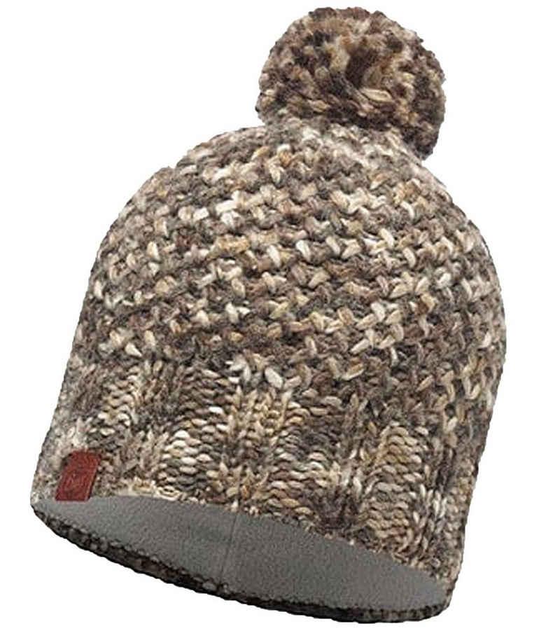 Buff Strickmütze »Buff Margo Mütze warme Winter-Mütze Strick-Mütze Bommel-Mütze Braun«