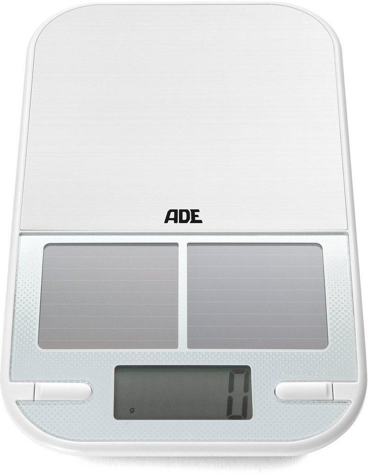 ADE Solar-Küchenwaage KE 1224 Serena in weiß/silber