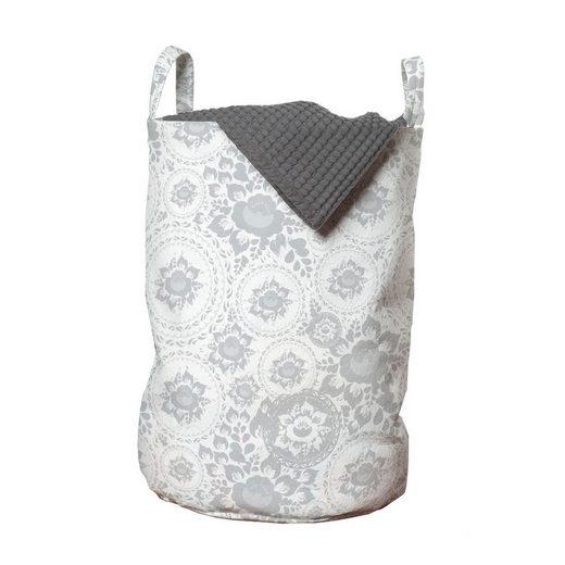 Abakuhaus Wäschesack »Wäschekorb mit Griffen Kordelzugverschluss für Waschsalons«, Floral Rosenblätter Floret