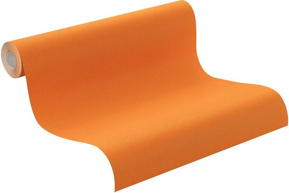 Vliestapete, Rasch , »orange« in orange