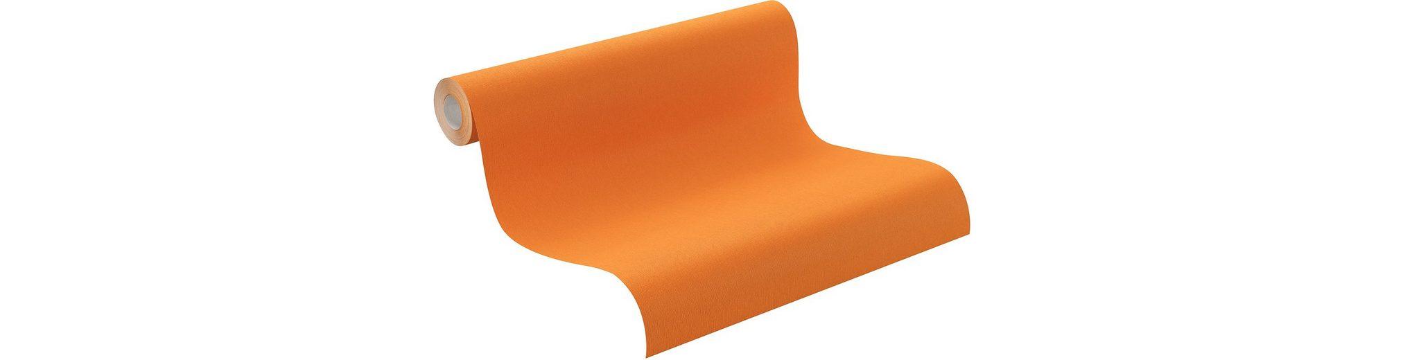 Vliestapete, Rasch , »orange«