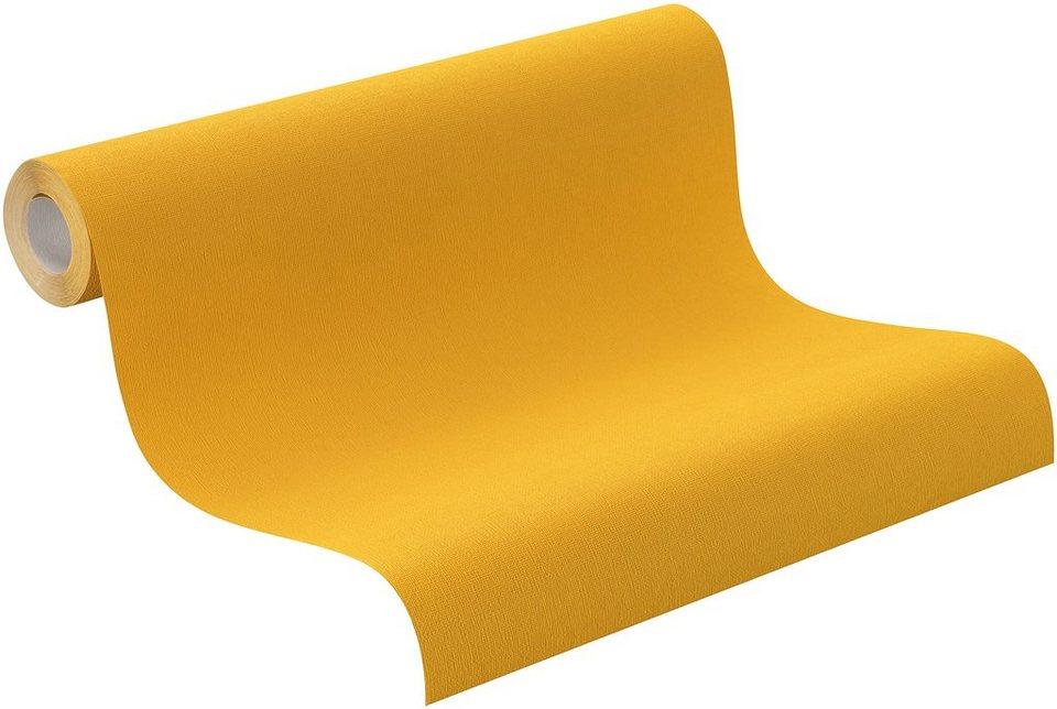 Vliestapete, Rasch , »jaune« in gelb