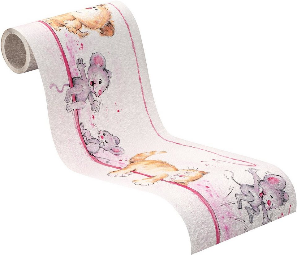Bordüre, Rasch , »Traumland« in rosa