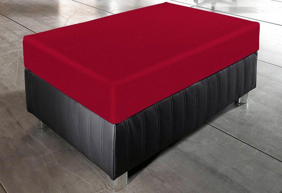 Bankhocker in schwarz/rot