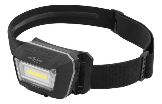 ANSMANN® LED Stirnlampe »Akku LED Kopflampe - Profi LED Stirnlampe mit 300 Lumen - IP65 Schutz«