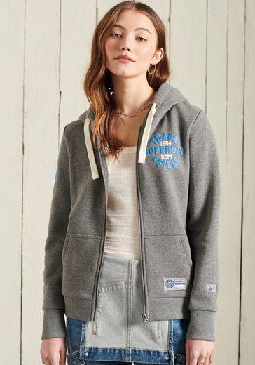 Superdry Sweatshirt »COLLEGIATE ATHLETIC ZIPPER« mit Printaufdruck