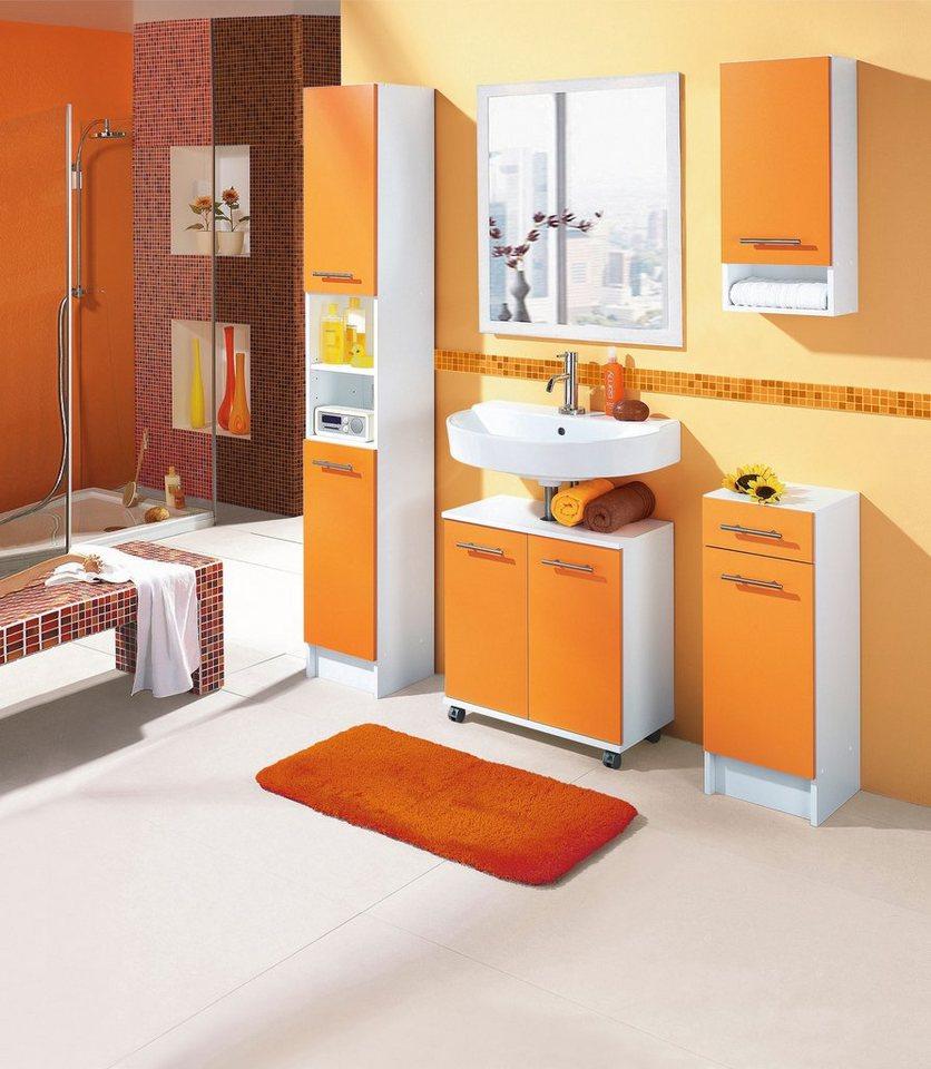 Fesselnd Badezimmer Idee In Weiß Orange