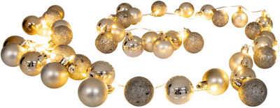 näve LED-Lichterkette »LED-Outdoor-Weihnachtslichterkette l: 150cm gold«, Timer