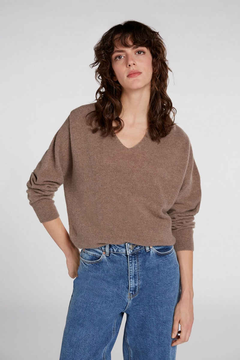 Oui Strickpullover »Pullover aus Wolle-Cashmere Mischung«