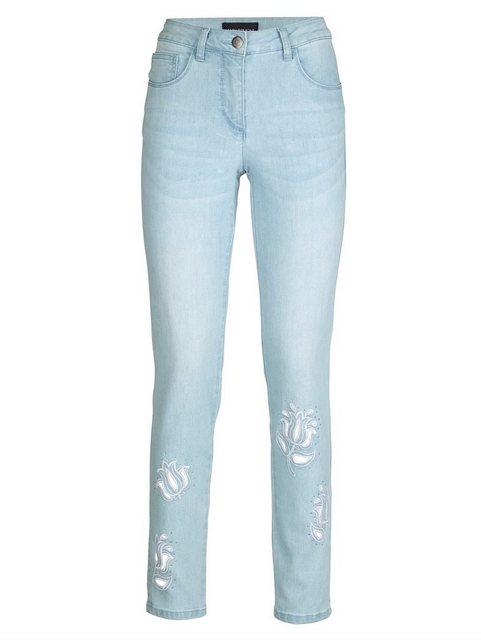 Hosen - Amy Vermont Jeans mit Stickerei und Strasssteindekoration im Vorderteil › blau  - Onlineshop OTTO
