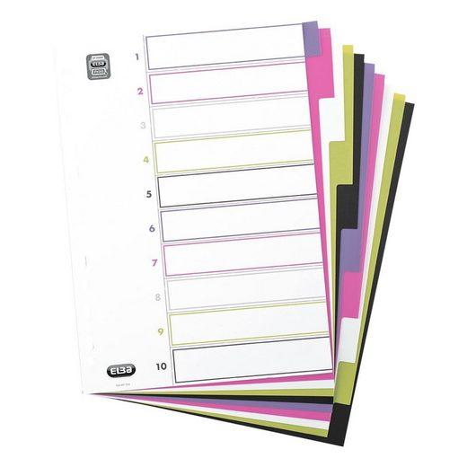 ELBA Kunststoffregister 10-tlg. 400004810 blanko A4 »MyColour«