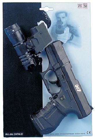 Schnellfeuerpistole mit Lampe, 25 Schuss