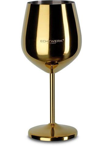 ECHTWERK Weinglas (2-tlg) Edelstahl PVD Beschic...
