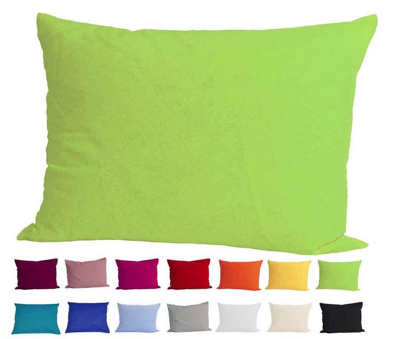 Kissenbezug »Basic«, beties, Kissenhülle ca. 40x60 cm 100% Baumwolle in vielen kräftigen Uni-Farben (apfelgrün)