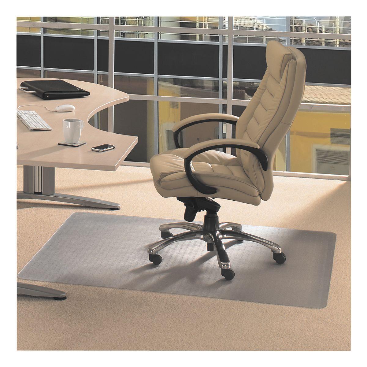 Floortex Bodenschutzmatte 120x90 cm rechteckig für mittelflorigen...