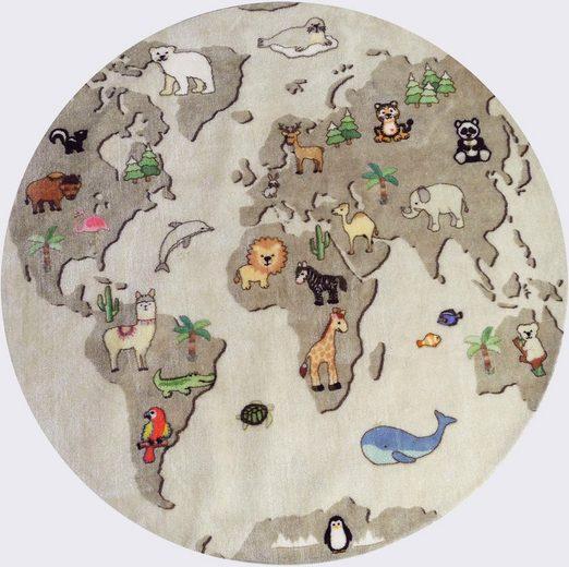 Kinderteppich »Globus«, Lüttenhütt, rund, Höhe 8 mm, Spielteppich
