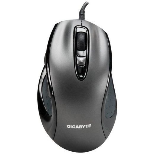 Gigabyte »GM-M6800 Gaming-Maus anthrazit Retail 1600 dpi für Rechtshänder« Gaming-Maus (Infrarot, kabelgebunden)