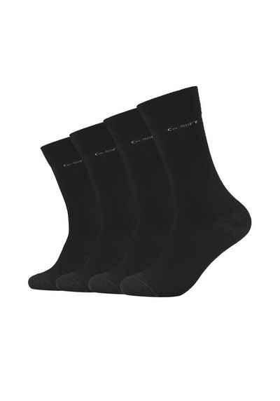 Camano Socken (4-Paar) ca-soft 4er Pack Bund ohne Gummidruck
