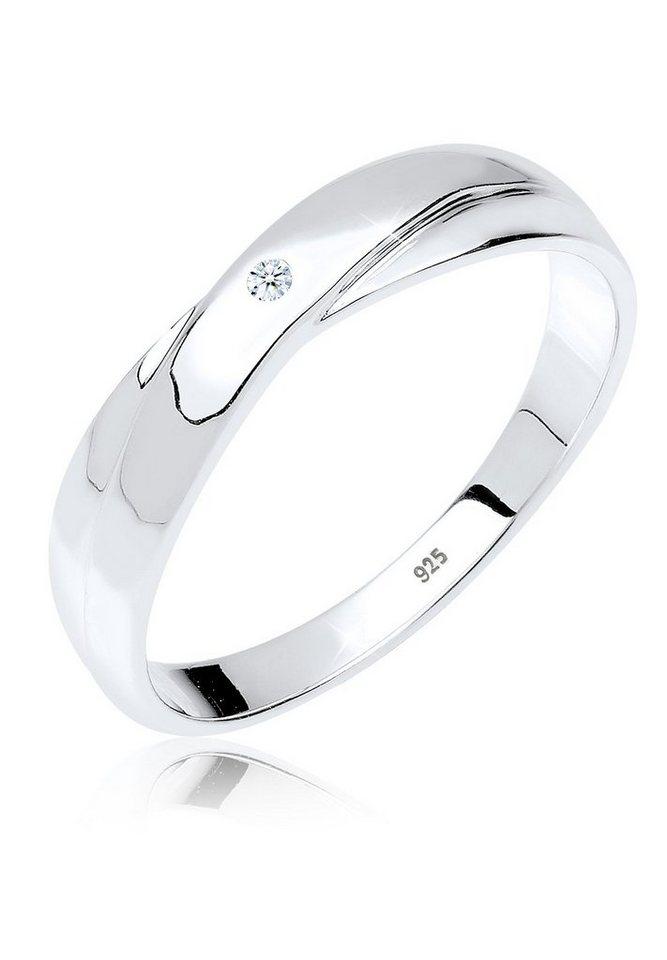DIAMORE Ring »Geschenkidee Diamant 0.02 ct. 925 Silber« in Weiß