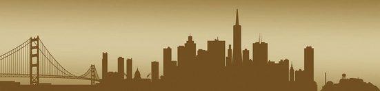 Consalnet Fototapete »San Francisco - Horizont«, für Küchenrückwand
