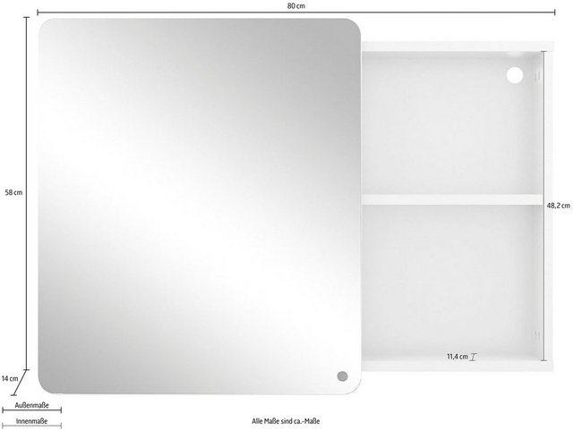 Spiegel - TOM TAILOR Spiegelschrank »COLOR BATH« mit Spiegeltür offenem Regal, Breite 80 cm  - Onlineshop OTTO