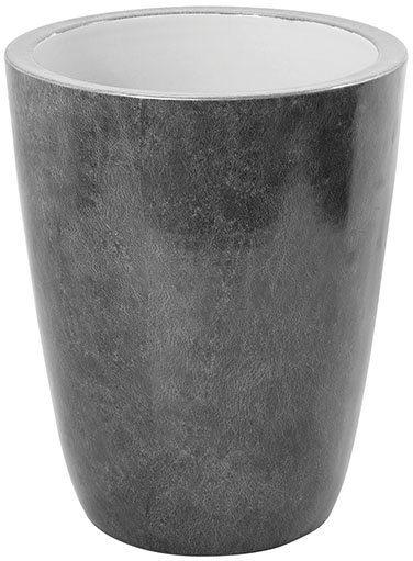 Fink Übertopf »MELUA, grau/silberfarben« (1 Stück), dekorativer Blumentopf, handgefertigt, aus Porzellan, groß, besonders hohes Gewicht und Volumen, in verschiedenen Größen erhältlich, Wohnzimmer